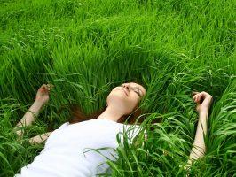 Lucid Healing sub page web slider grassy girl